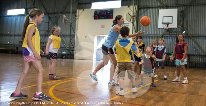 JUMP BALL: Scone junior basketball practice.