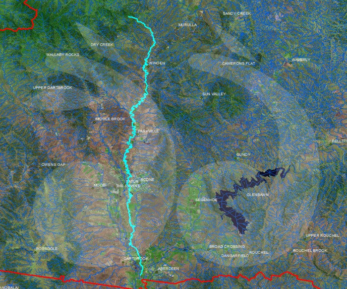 Topographical map of Kingdon Ponds, courtesy of the Geographical Names Board of New South Wales.