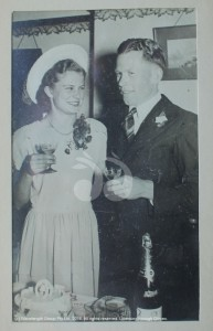 Betty and Archie Shepherd on their wedding day in Sydney.