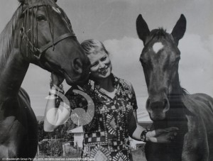 Betty Shepherd with Honeysuckle and foal Titaria