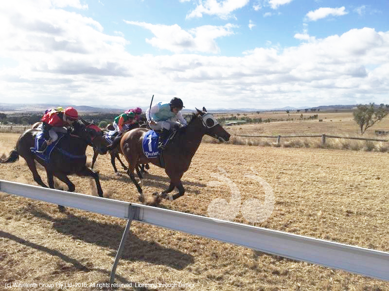 Race 1 the Godolphin Handicap at the Merriwa Cup.