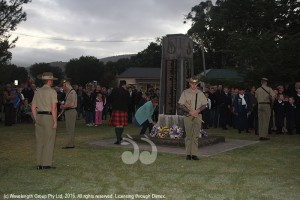 Laying wreaths at the ANZAC dawn service in Scone.
