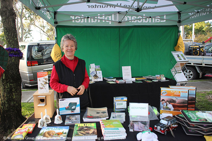Ruth Hardy was at the markets with information about Landcare.