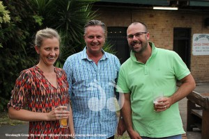 Tammy and Colin Selwood from the Cottage with Cr James Burns.