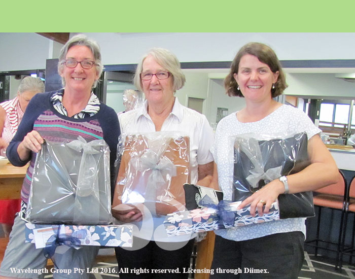 Scone Open 2017 Nett winners: Division 1 Hely Vandenbruggen, Division 2 Judy Carmody and Division 3 Sarah Brooks.