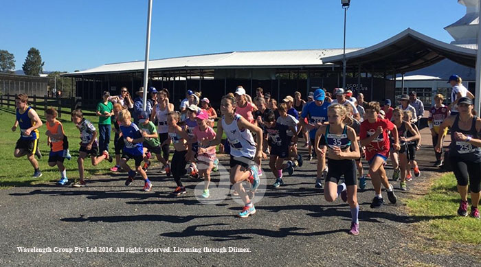 The start of the Scone Athletic Club fun run. Photograph courtesy of Ilisa Whitehead.