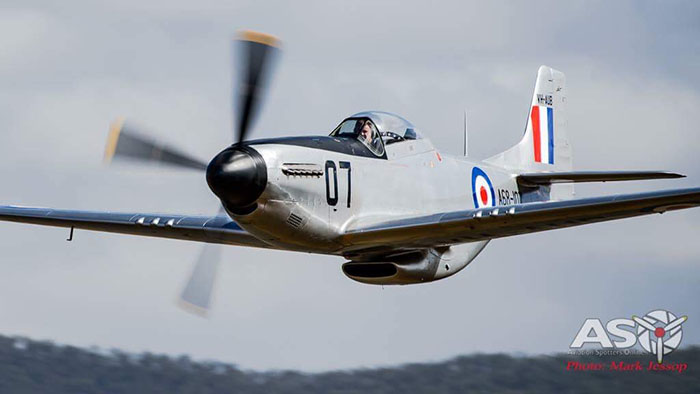Ross Pay's Mustang that will be flying over Scone on ANZAC day. Photograph supplied by Ross Pay.