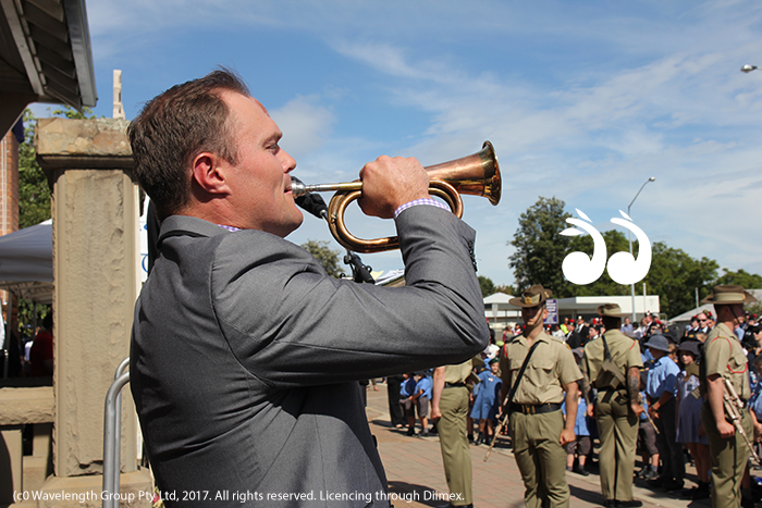 Chris Lavis played the last post at both ANZAC Day services in Scone.