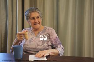 Resident Jean Blake enjoyig her cake cone.