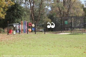 The playground and sandpit will soon have shade sails to provide protection from the sun and the flying foxes.