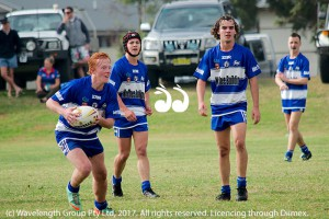 Brendon Norton takes the ball in the under 18's.