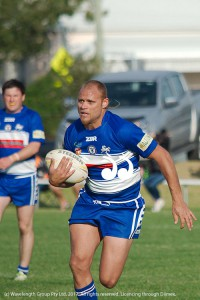 Kyle Cochrane playing for First Grade,