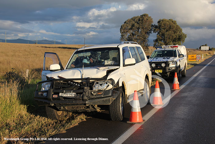 A rearend collision at the Turanville Roadworks on the New England Highway.