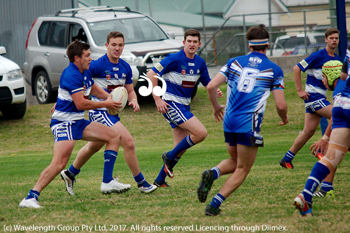 Jessie Kilroy with the ball, scored five tries for Reserve Grade