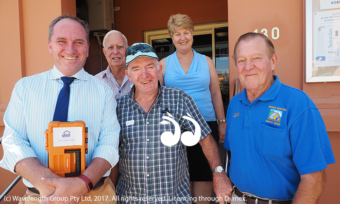 Barnaby Joyce pictured with Jim Alcher, Manager Scone Neighbourhood Resource Centre Lee Watts, Colin Watts and Graham Brooker at Scone Neighbourhood Centre.