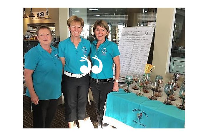 Hunter River District Championship representatives: Sue Watts, Lyn Banks and Julie Leckie.