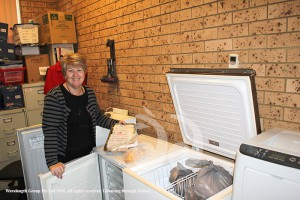 Lee Watts with the freezers donated to the Scone Neighbourhood Resource Centre.