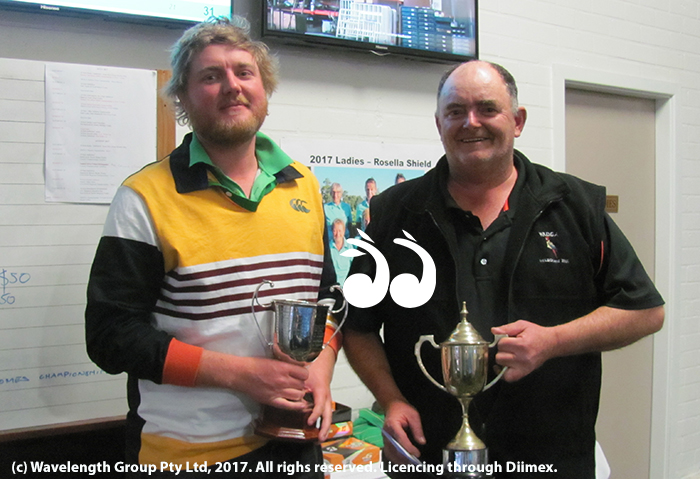 Scone Men's Golf Open 2017: Jake Teague winner of the A.G.White Cup and Bob Robb the Glen Googe stableford winner.