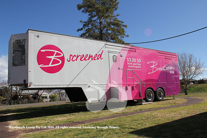 The Breast Screen NSW mobile screening unit at the  Scone Senior Citizens Cetre