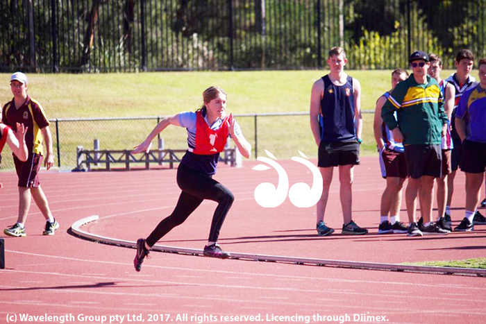 Mersadies Cadalbert competing at the Maitland-Newcastle Diocese Carnival at Glendale International Athletics Centre.