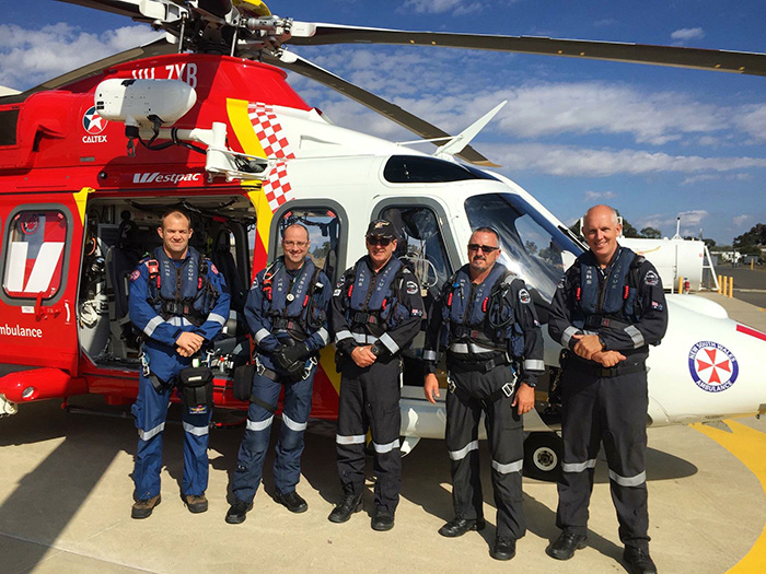 Crew at the opening of the Tamworth base extensions.