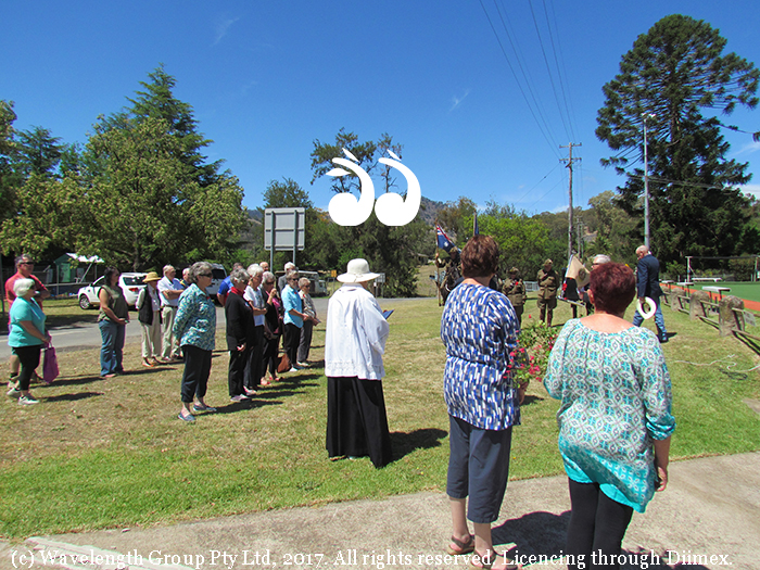 Murrurundi residents gathered to remember the end of World War I.