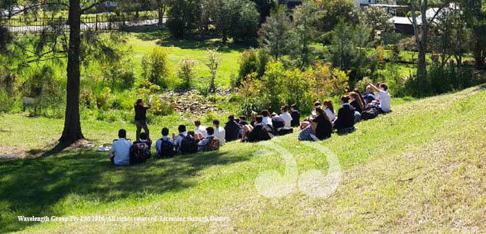 Students at Grossman High School learning about rehabilitation planting. Photgraph courtesy of HLLS