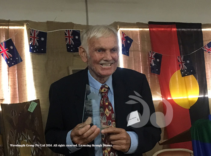 MC Arthur Williams who has been involved in Merriwa's Australia Day ceremonies since inception over 30 years ago.