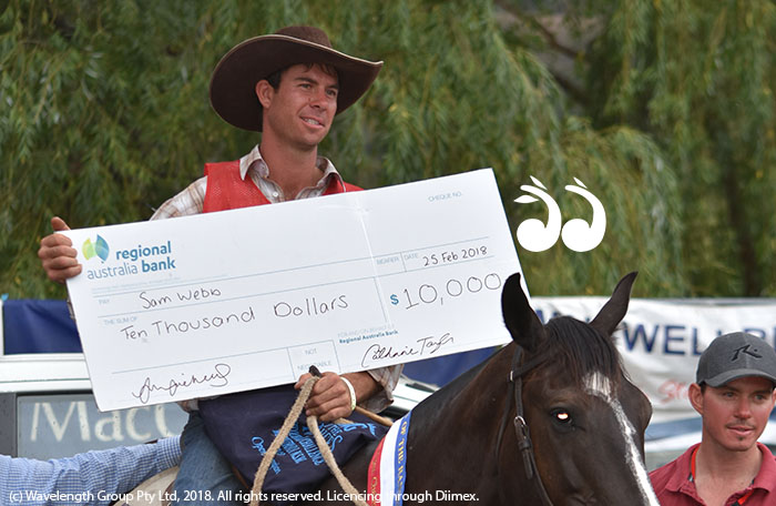 Sam Webb from Tumut was crowned King of the Ranges this year in Murrurundi. Photograph: Patricia Taylor Photography.