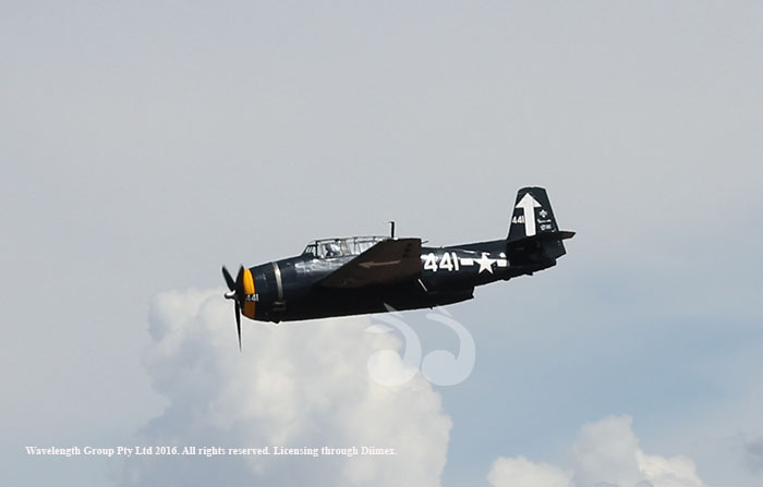 The TBM Grumman Avenger during one of several flights at Warbirds Over Scone.