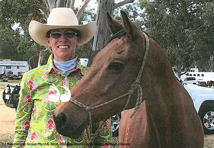 Rachael Abbott with one of her horses.