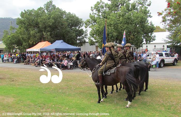 The light horse at the Murrurundi ANZAC Day service.