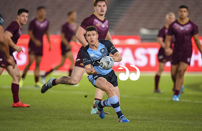 Jack Madden playing for the under 18's Blues in the 2018 State of Origin.  June 6th 2018, MCG #ORIGIN  Digital Image: Nathan Hopkins © NRL Photos