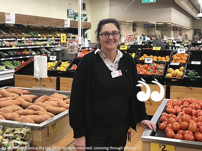 Carrie Edwards, manager of Coles in Scone is proud to support local farmers contending with the drought.