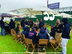 The Scone Polo marquee at one of the most prestigeous events in Britain, the Queen's Cup. Photo: David Paradice.